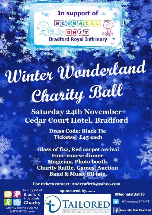 Winter wonderland ball is coming to Bradford - Bradford Hospitals